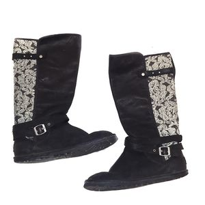 Ugg Marielle Tall Lace-Back Shearing Boots